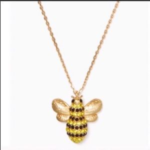 $68 New Kate Spade gold tone bee necklace